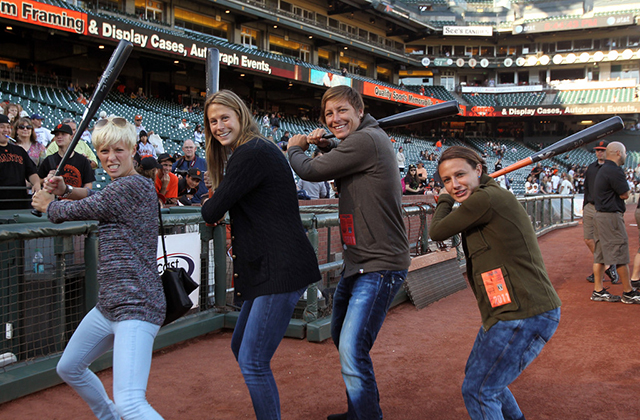 Abby Wambach having fun