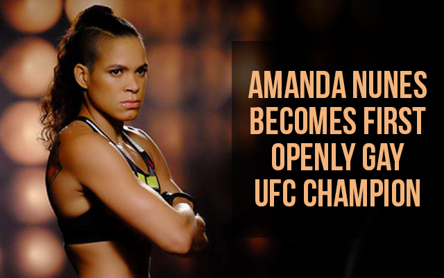 Amanda Nunes becomes first openly gay UFC champion